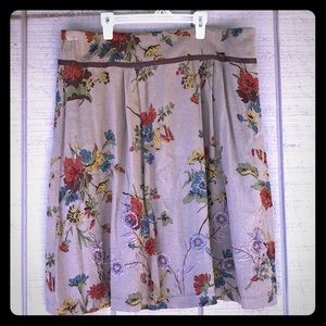 CAbi size 14 Viscose Old Timey Autumn Floral Skirt